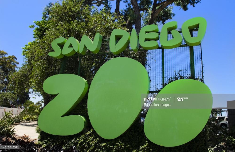 Famous San Diego Zoo sign in Balboa Park in San Diego California . (Photo by: Education Images/Universal Images Group via Getty Images)